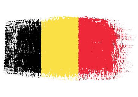 brushstroke: brushstroke of Belgium flag