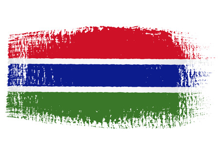 streaked: brushstroke of Gambia flag