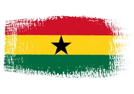 streaked: brushstroke of Ghana flag Illustration