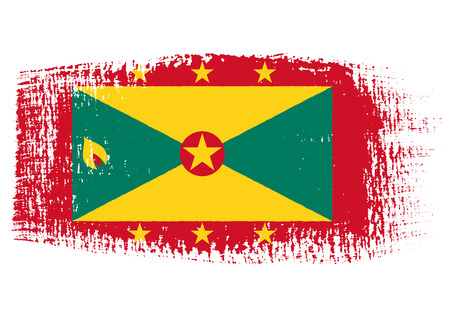 brushstroke: brushstroke flag Grenada
