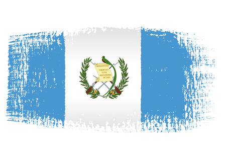 brushstroke flag Guatemala Vector