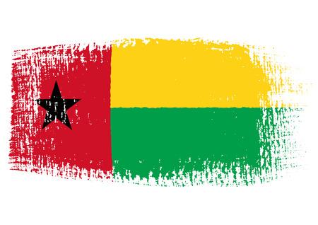 bissau: brushstroke flag Guinea Bissau