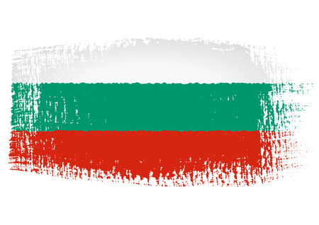 brushstroke: brushstroke flag Bulgaria Illustration