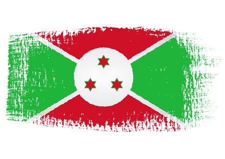 burundi: brushstroke flag Burundi