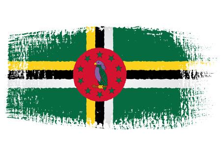 dominica: brushstroke flag Dominica Illustration