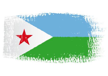 brushstroke: brushstroke flag Djibouti Illustration