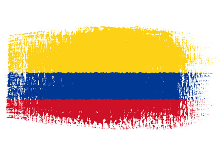 brushstroke flag Colombia Vector