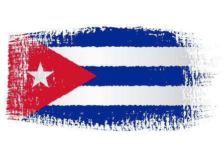 cuban flag: brushstroke flag Cuba