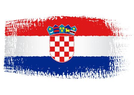 croatia flag: brushstroke flag Croatia