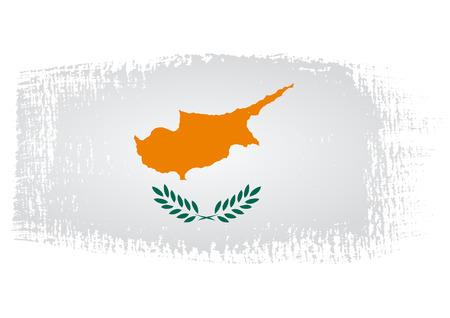cyprus: brushstroke flag Cyprus Illustration