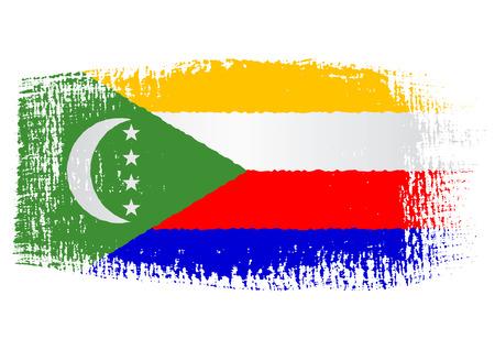 brushstroke: brushstroke flag Comoros Illustration
