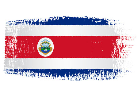 bandera de costa rica: bandera pincelada Costa Rica