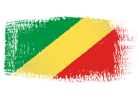 republic of the congo: brushstroke flag Republic of the Congo Illustration