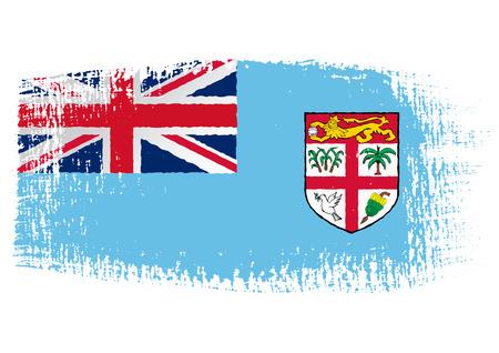 fiji: brushstroke flag Fiji