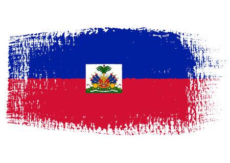 streaked: brushstroke flag Haiti