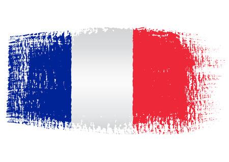 ブラシ ストロークの旗フランス