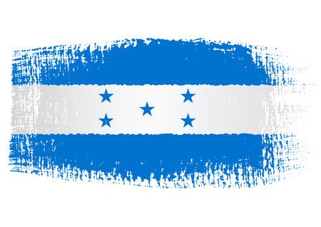 bandera honduras: Honduras bandera pincelada Vectores
