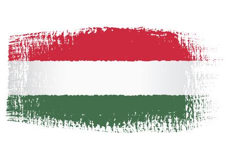 brushstroke: brushstroke flag Hungary