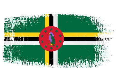 brushstroke: brushstroke flag Dominica Illustration
