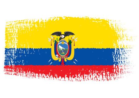 streaked: brushstroke flag Ecuador