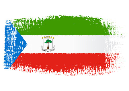 equatorial: brushstroke flag Equatorial Guinea Illustration