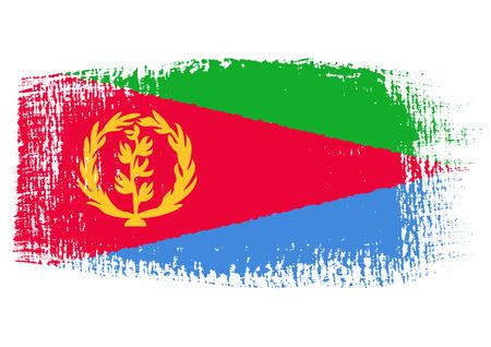 streaked: brushstroke flag Eritrea
