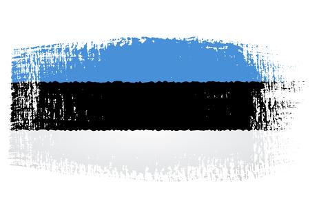 brushstroke: brushstroke flag Estonia