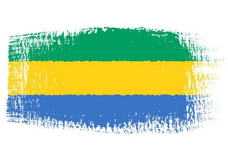 gabon: brushstroke flag Gabon