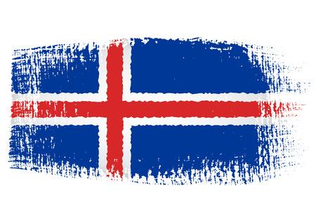 brushstroke: brushstroke flag Iceland