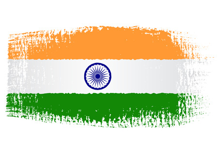 bandera de LA INDIA: bandera pincelada India Vectores
