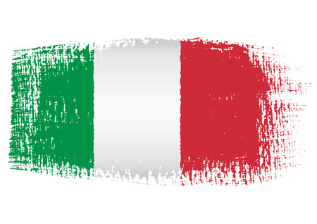 bandiera italiana: Bandiera pennellata Italia