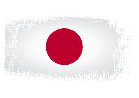 brushstroke: brushstroke flag Japan