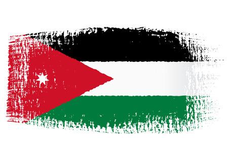 jordanian: penseelstreek vlag Jordan