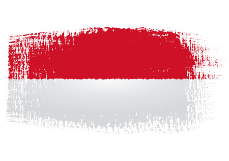 brushstroke flag Indonesia