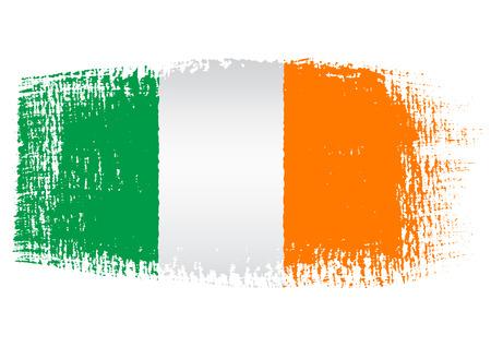 streaked: brushstroke flag Ireland Illustration