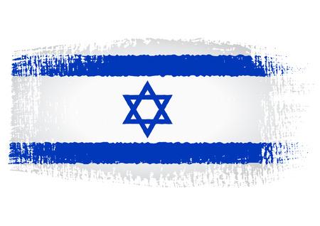 streaked: brushstroke flag Israel Illustration