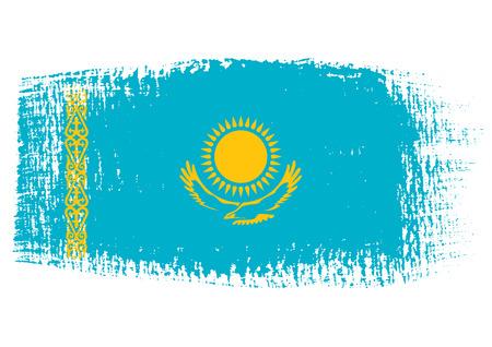 streaked: brushstroke flag Kazakhstan Illustration