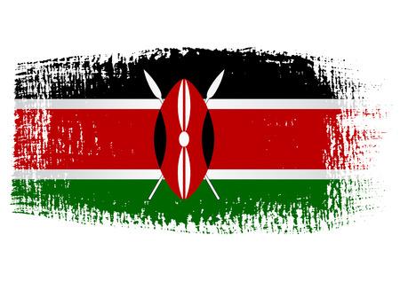 brushstroke: brushstroke flag Kenya