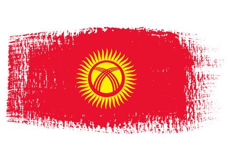 kyrgyzstan: brushstroke flag Kyrgyzstan