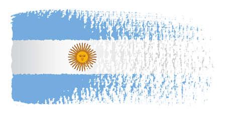 bandera argentina: Pincelada Bandera Argentina