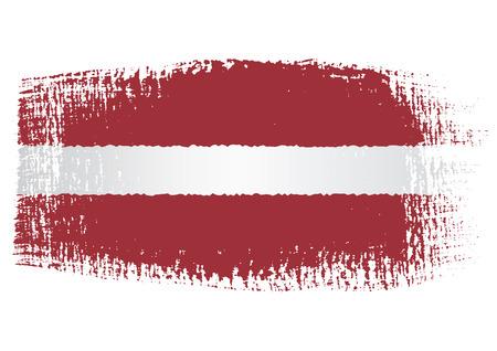 brushstroke: brushstroke flag Latvia