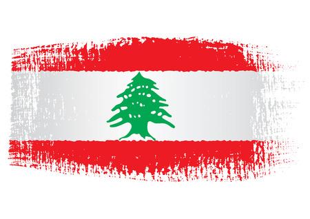 Pincelada Bandera de Líbano