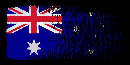 streaked: brushstroke flag Australia
