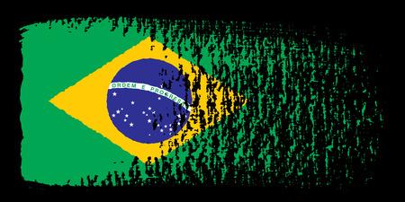 brazilian flag: brushstroke flag Brazil
