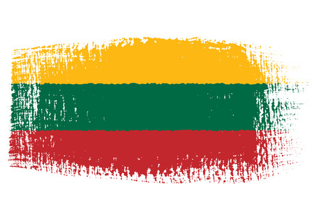 lithuanian: brushstroke flag Lithuania