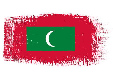 brushstroke: brushstroke flag Maldives