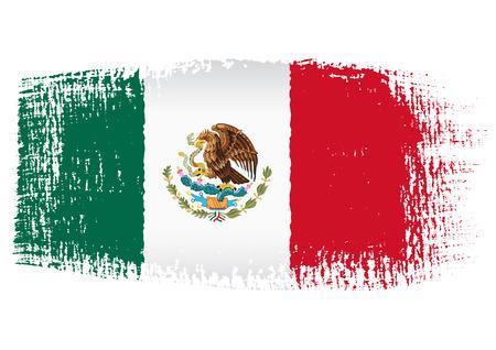 mexico flag: brushstroke flag Mexico