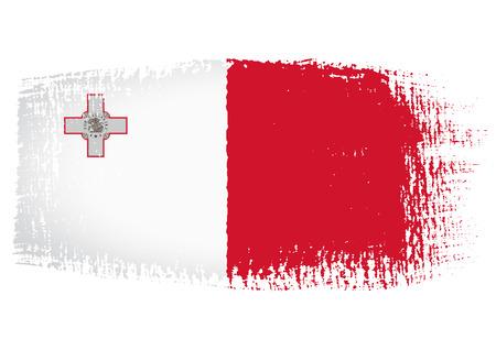 malta: penseelstreek vlag van Malta