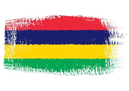 mauritius: brushstroke flag Mauritius