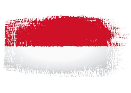monaco: brushstroke flag Monaco Illustration